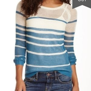 Vertigo | Striped Open Knit Sweater / Size: XL